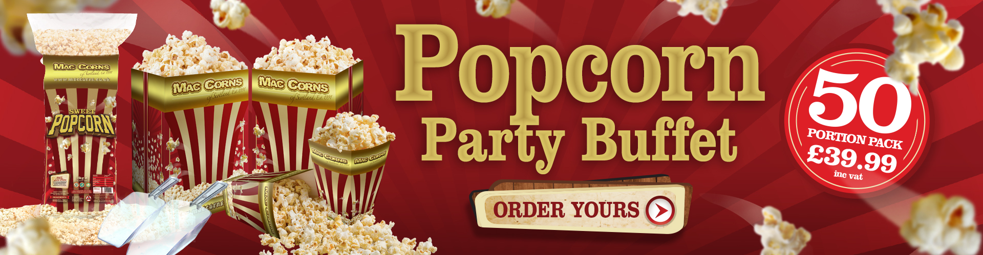 Popcorn Party Buffet