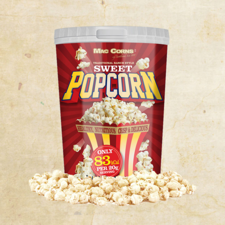 MacCorns 1ltr Render Sweet Popcorn