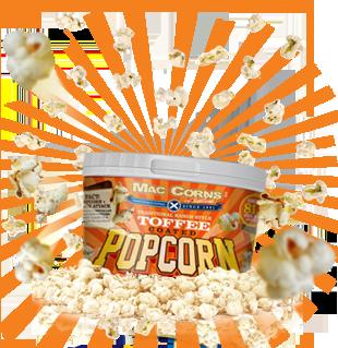 MacCorns Toffee Popcorn Mini Pot Rollover