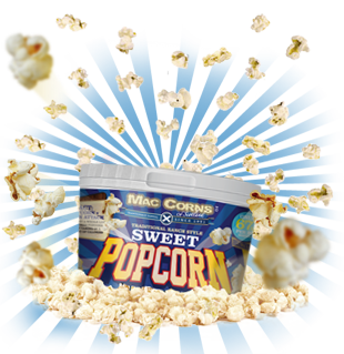 MacCorns Ranch Style Sweet Popcorn Mini Pot