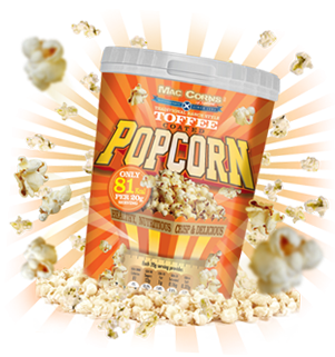 MacCorns Toffee Popcorn Category