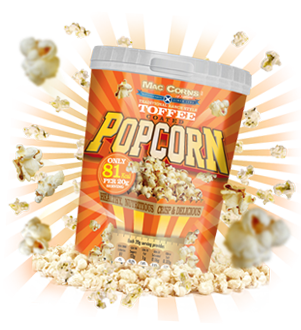 MacCorns Toffee Popcorn Category